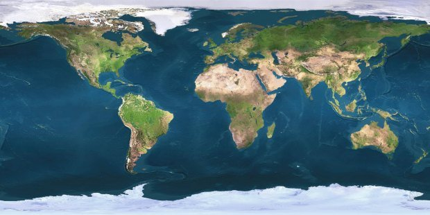 NASA longitude latitude world map